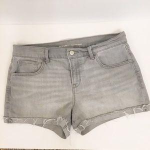 Old Navy Boyfriend Denim Jean Shorts Gray Sz 12